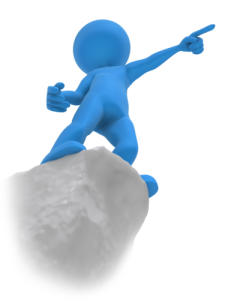 Image of a person pointing